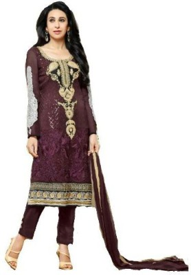 Shafie Georgette Embroidered Salwar Suit Dupatta Material