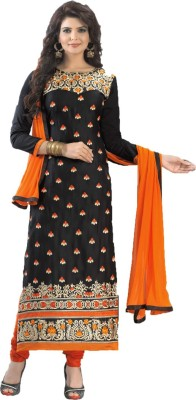 Avtrendz Cotton Embroidered Salwar Suit Dupatta Material