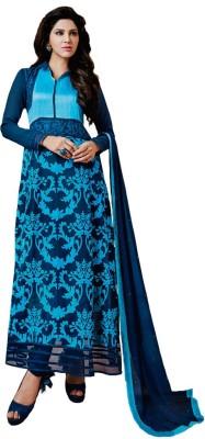 Jassu Fashion Hub Georgette Self Design Semi-stitched Salwar Suit Dupatta Material