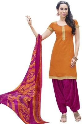 Style Mania Cotton Printed Semi-stitched Salwar Suit Dupatta Material