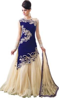 TAANA Net Embroidered Semi-stitched Salwar Suit Dupatta Material