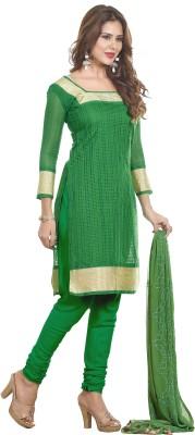 Multiretail Cotton Silk Blend Embroidered Semi-stitched Salwar Suit Dupatta Material