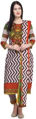 Kesaria by Uptowngaleria Cotton Floral Print Salwar Suit Dupatta Material