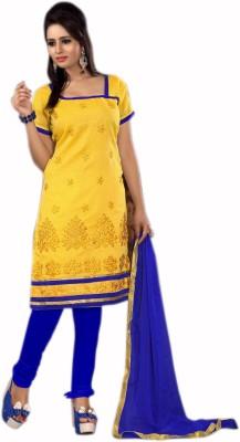 1nilkanthfashion Cotton Embroidered Salwar Suit Dupatta Material