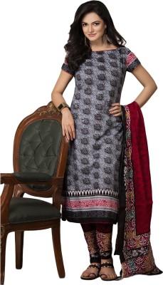 SuitsOn Cotton Floral Print Salwar Suit Dupatta Material