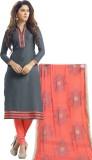 Vastrani Chanderi Solid, Embroidered Sal...