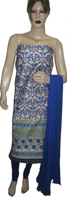 Stutee Chanderi Embroidered Salwar Suit Dupatta Material