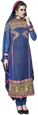De Marca Net, Georgette Self Design Semi-stitched Salwar Suit Dupatta Material