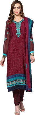Yepme Cotton Polyester Blend Embroidered Semi-stitched Salwar Suit Dupatta Material