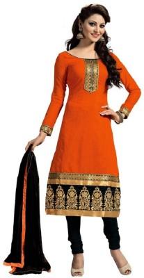 ALKNANDA Cotton Embroidered Salwar Suit Dupatta Material