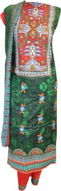 NARMADA-Purifies Fashion Cotton Embroidered, Printed Salwar Suit Dupatta Material, Suit Fabric, Salwar Suit Material(Un-stitched)