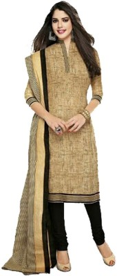 MS Fashion Cotton Printed Semi-stitched Salwar Suit Dupatta Material