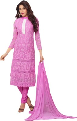 Prachi Silk Mills Chiffon Embroidered Salwar Suit Dupatta Material