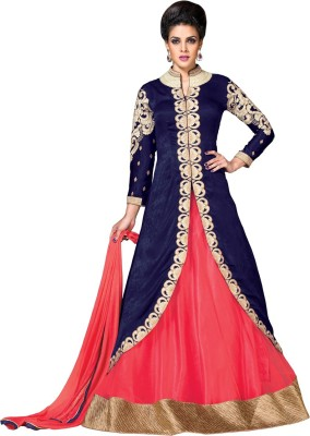 MF Retail Velvet, Net Embroidered Salwar Suit Dupatta Material