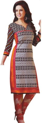 Vibranz Fashion Cotton Self Design Salwar Suit Dupatta Material