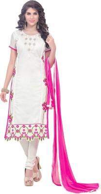 Fabfirki Fashion Hub Cotton Self Design Salwar Suit Dupatta Material