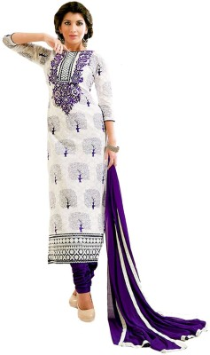 Vogue4all Cotton Embroidered Salwar Suit Dupatta Material