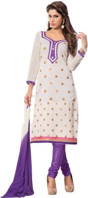 Ambaji Cotton Polka Print Salwar Suit Dupatta Material