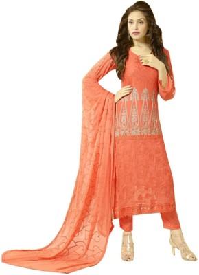 Kmozi Chiffon Embroidered Salwar Suit Dupatta Material