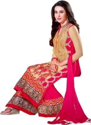 Elezita Georgette Embroidered Salwar Suit Dupatta Material