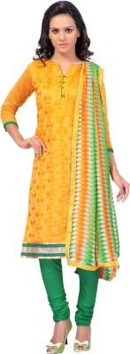 Hitansh Fashion Chanderi Embroidered Salwar Suit Dupatta Material