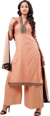Shoponbit Net Printed Semi-stitched Salwar Suit Dupatta Material