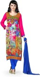 Open Catlouge Synthetic Georgette Printe...
