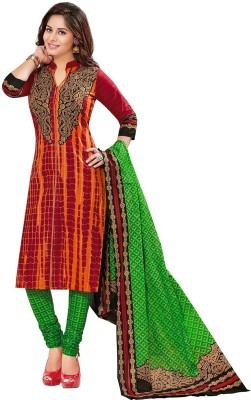 Jevi Prints Cotton Printed, Geometric Print Salwar Suit Dupatta Material