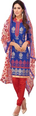 Manthan Chanderi Embroidered Salwar Suit Dupatta Material