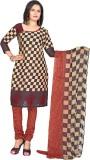Khoobee Cotton Self Design, Printed Dres...