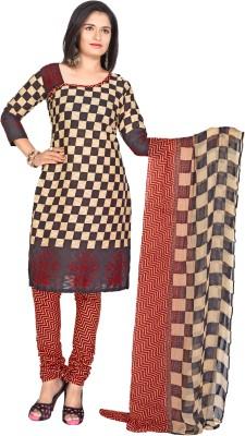 Khoobee Cotton, Jacquard Self Design, Printed Dress/Top Material