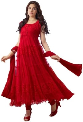 Khantil Georgette Self Design Semi-stitched Salwar Suit Dupatta Material (Unstitched)