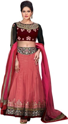 Neets Fashion Net Embroidered Semi-stitched Lehenga Choli Material