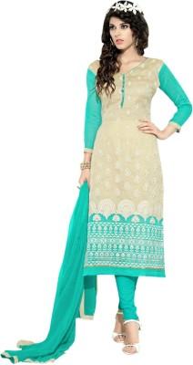Aagamanfashion Chanderi Embroidered Salwar Suit Dupatta Material