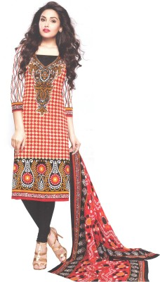 Amin Cotton, Cotton Polyester Blend, Chiffon Geometric Print Salwar Suit Dupatta Material