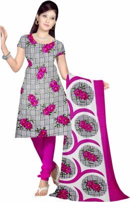 Sonal Trendz Synthetic Floral Print Salwar Suit Dupatta Material