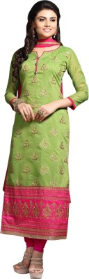 Triveni Cotton Self Design Salwar Suit Dupatta Material