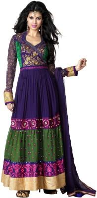 Reshamfab Georgette Self Design Semi-stitched Salwar Suit Dupatta Material