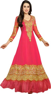 Nm Textile Georgette Embroidered Dress/Top Material