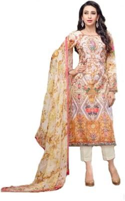Shop Well Soon Cotton Polyester Blend Printed Salwar Suit Dupatta Material