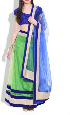Modish Vogue Solid Women's Lehenga, Choli and Dupatta Set