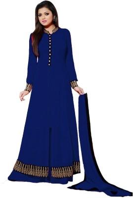 Sitaram Georgette Embroidered Semi-stitched Lehenga Kurta Material, Semi-stitched Gown & Salwar Material, Semi-stitched Salwar Suit Dupatta Material