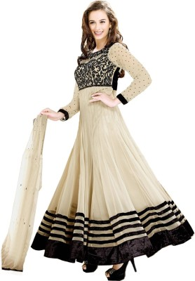 Parishi Fashion Georgette Embroidered Dress/Top Material