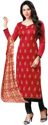 Akshaya Fashons Jacquard Embroidered Salwar Suit Dupatta Material