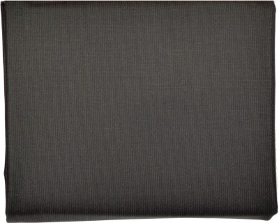 Men In Black Cotton Polyester Blend Solid Trouser Fabric
