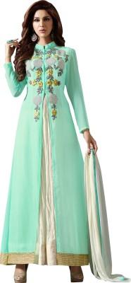 Hitansh Georgette Embroidered Semi-stitched Salwar Suit Dupatta Material