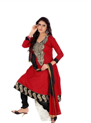 Florence Cotton Embroidered Salwar Suit Dupatta Material