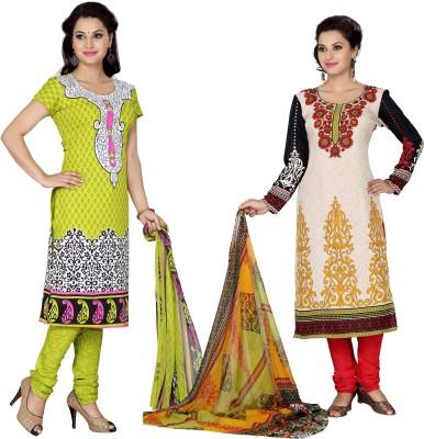 Aanyaa Crepe Printed Salwar Suit Dupatta Material