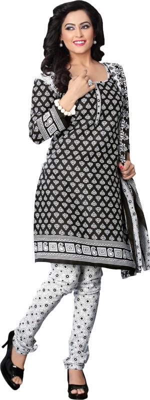 Minu Suits Cotton Printed Salwar Suit Dupatta Material(Un-stitched)