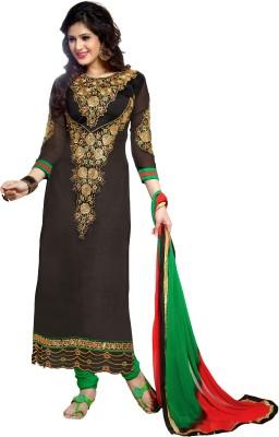 Awesome Chanderi Self Design Semi-stitched Salwar Suit Dupatta Material